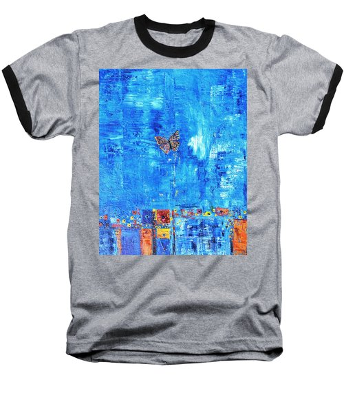 Butterfly In The Wind Baseball T-Shirt