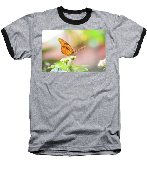 Butterfly - Julie Heliconian Baseball T-Shirt by Pamela Williams