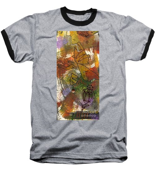 Baseball T-Shirt featuring the mixed media Butterfly Kisses by Angela L Walker