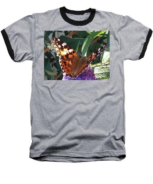 Butterfly Landing Baseball T-Shirt