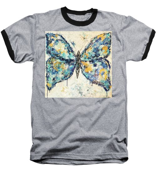 Butterfly Love Baseball T-Shirt by Kirsten Reed