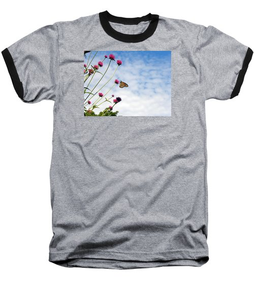 Baseball T-Shirt featuring the photograph Butterfly Magic by Teresa Schomig