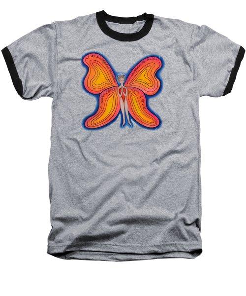 Butterfly Mantra Baseball T-Shirt by Deborha Kerr