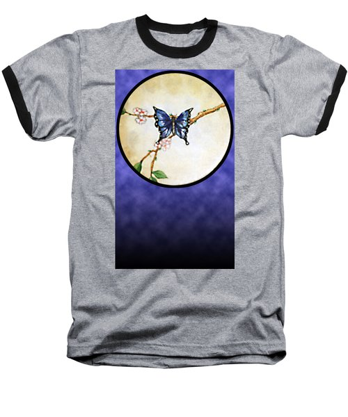 Butterfly Moon Baseball T-Shirt