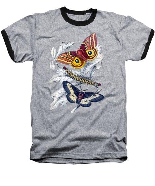 Butterfly Moth T Shirt Design Baseball T-Shirt by Bellesouth Studio