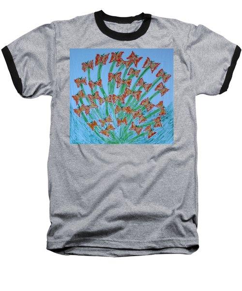 Butterfly Motion Baseball T-Shirt