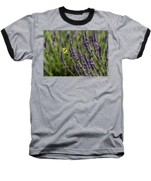 Butterfly N Lavender Baseball T-Shirt