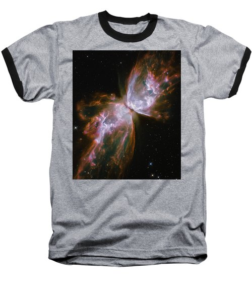 Butterfly Nebula Baseball T-Shirt