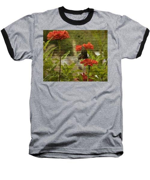 Butterfly Notes Baseball T-Shirt