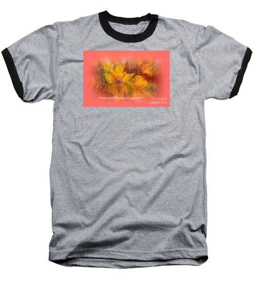 Butterfly Of Love And Peace Baseball T-Shirt by Sherri's Of Palm Springs