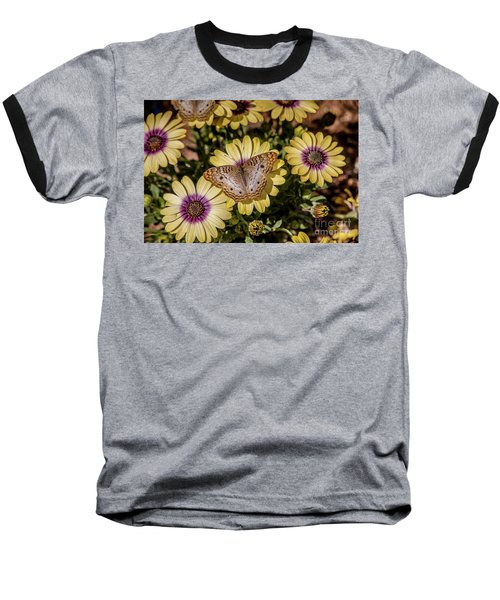 Butterfly On Blossoms Baseball T-Shirt