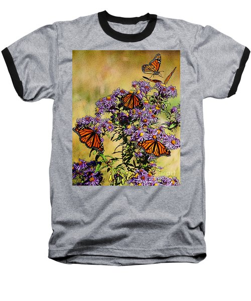 Butterfly Party Baseball T-Shirt