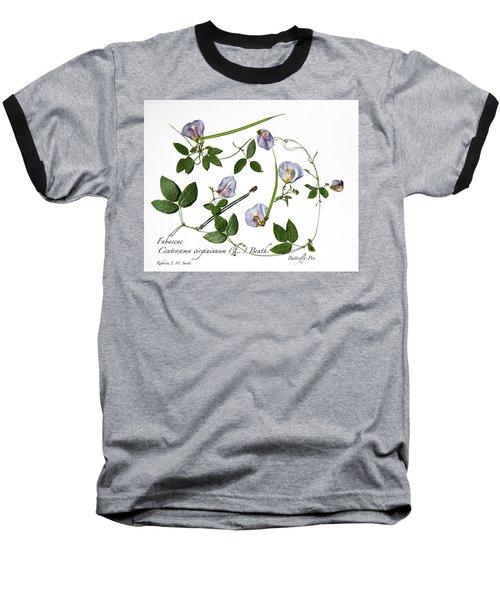 Butterfly Pea Baseball T-Shirt