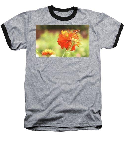 Butterfly Peek-a-boo Baseball T-Shirt