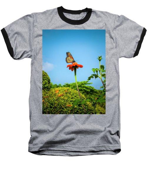 Butterfly Perch Baseball T-Shirt