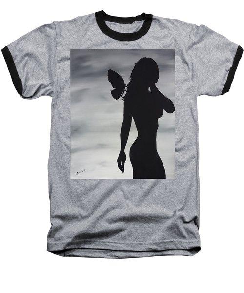 Butterfly Silhouette Baseball T-Shirt