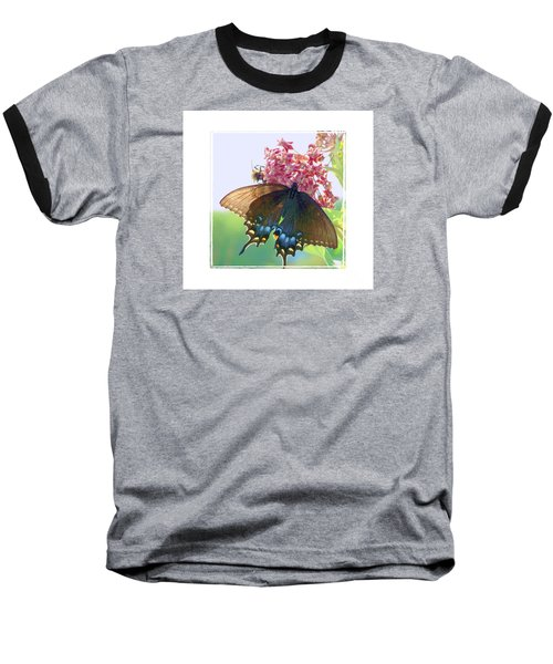 Baseball T-Shirt featuring the photograph Butterfly Summer 3 by Shirley Moravec