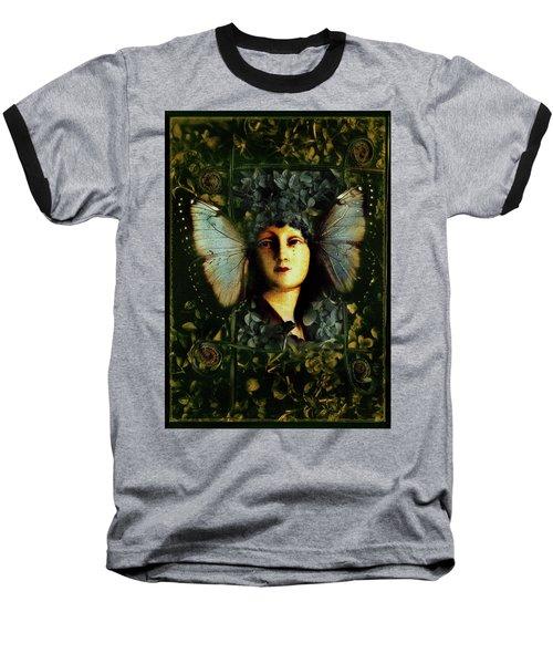 Butterfly Woman Baseball T-Shirt