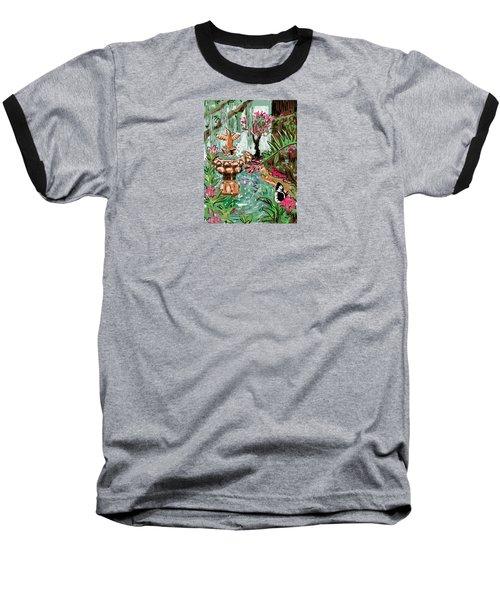 Butterfly World Baseball T-Shirt