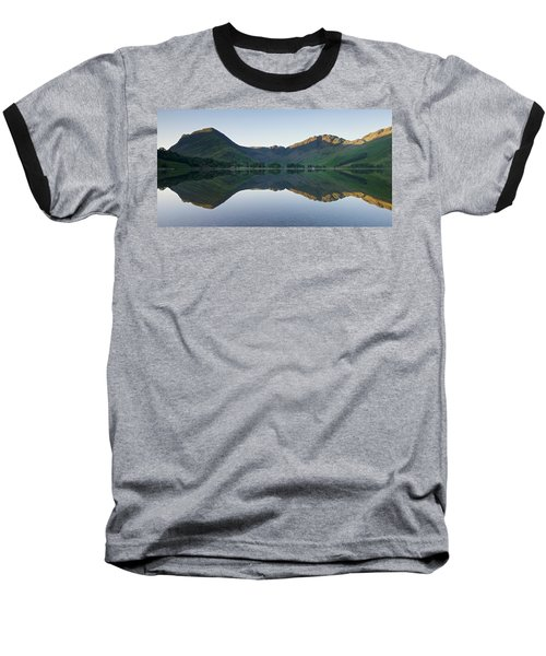 Buttermere Reflections Baseball T-Shirt by Stephen Taylor