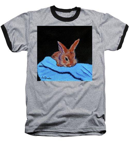 Butterscotch Bunny Baseball T-Shirt by Susan Duda