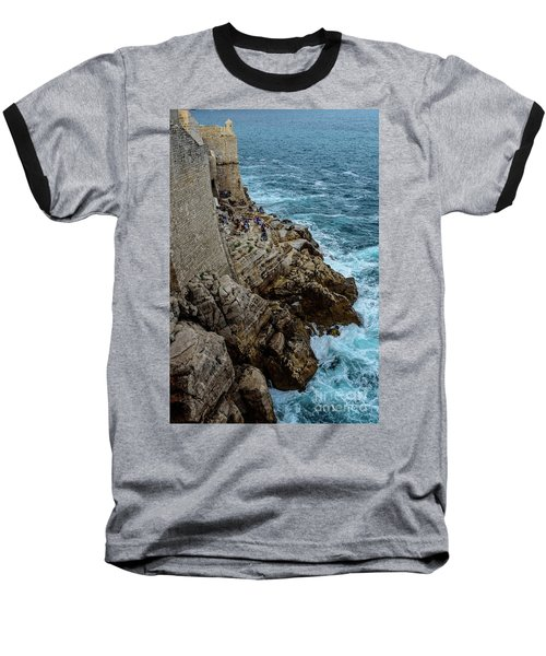 Buza Bar On The Adriatic In Dubrovnik Croatia Baseball T-Shirt