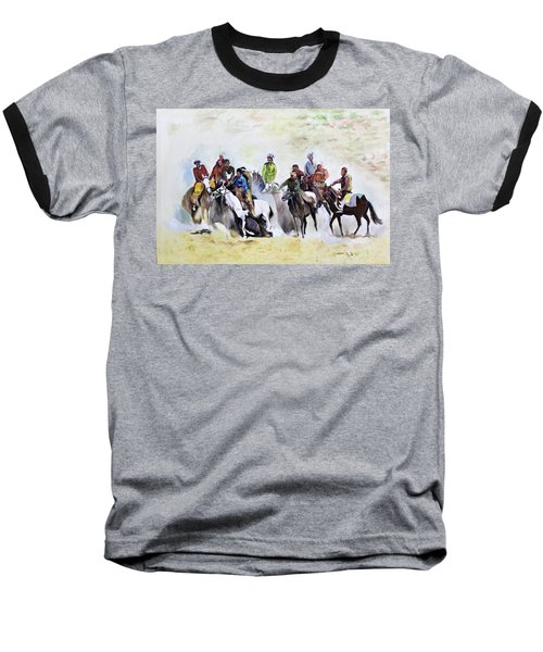 Buzkashi Sport Baseball T-Shirt