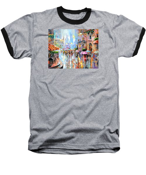 Buzy City Streets Baseball T-Shirt
