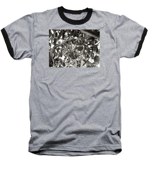 Baseball T-Shirt featuring the photograph Bw Cobweb Tree by Megan Dirsa-DuBois