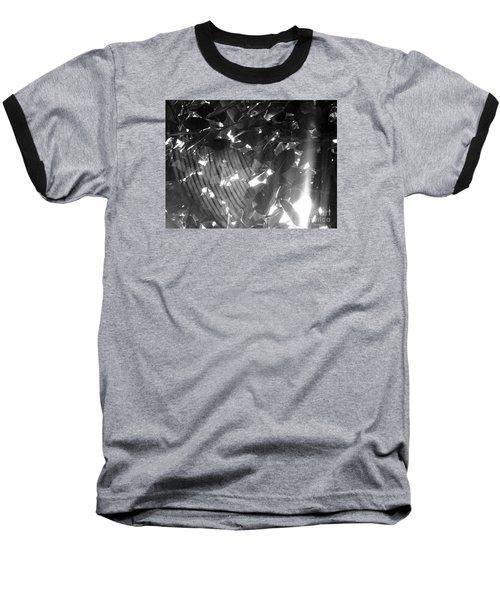 Baseball T-Shirt featuring the photograph Bw Shadow Threads by Megan Dirsa-DuBois