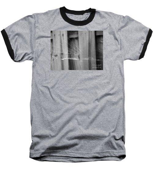 Baseball T-Shirt featuring the photograph Bw Spiderweb by Megan Dirsa-DuBois