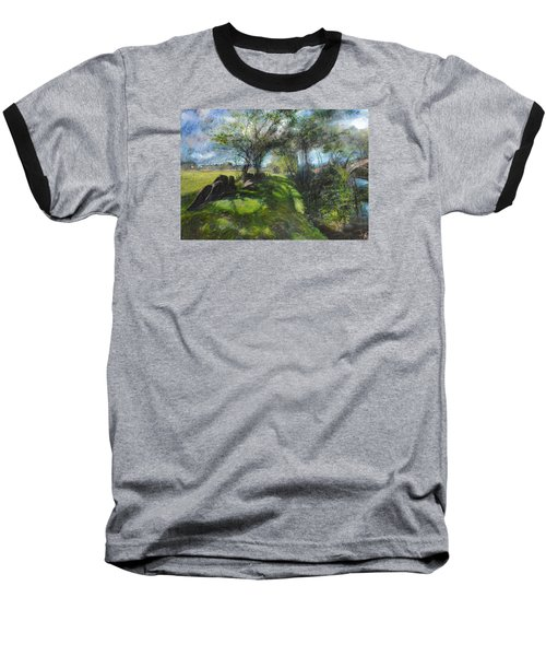 Baseball T-Shirt featuring the pastel By The Dee by Harry Robertson