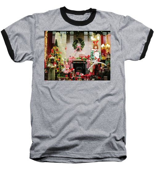 By The Fireplace Baseball T-Shirt