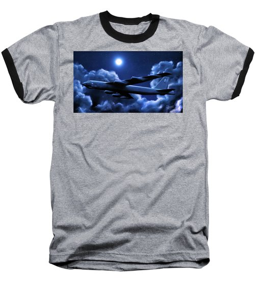 By The Light Of The Blue Moon Baseball T-Shirt by Dave Luebbert