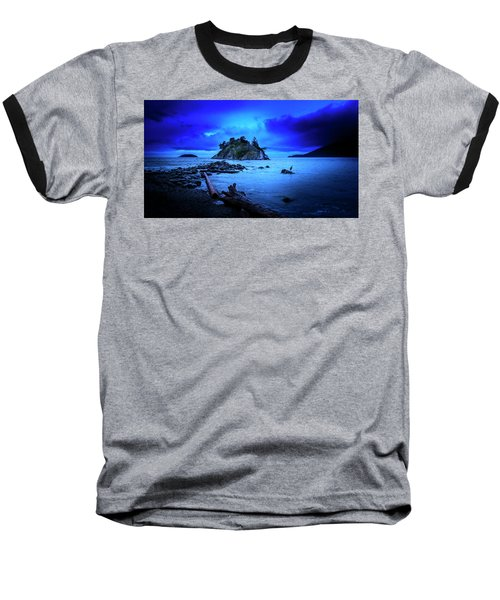 Baseball T-Shirt featuring the photograph By The Light Of The Moon by John Poon
