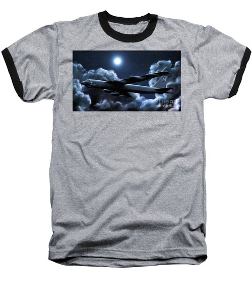Baseball T-Shirt featuring the painting By The Light Of The Silvery Moon by Dave Luebbert