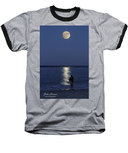 By The Light Of The Supermoon Baseball T-Shirt by John Loreaux