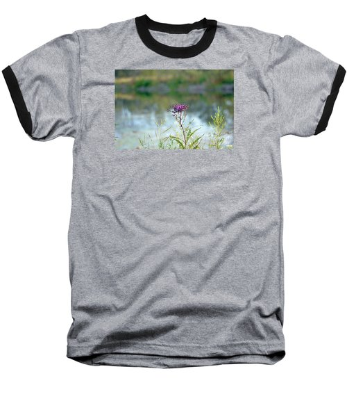 Baseball T-Shirt featuring the photograph By The Pond by Lila Fisher-Wenzel