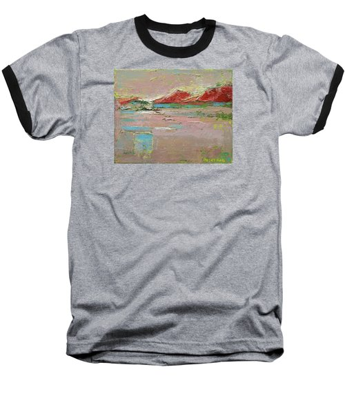 By The River Baseball T-Shirt by Becky Kim