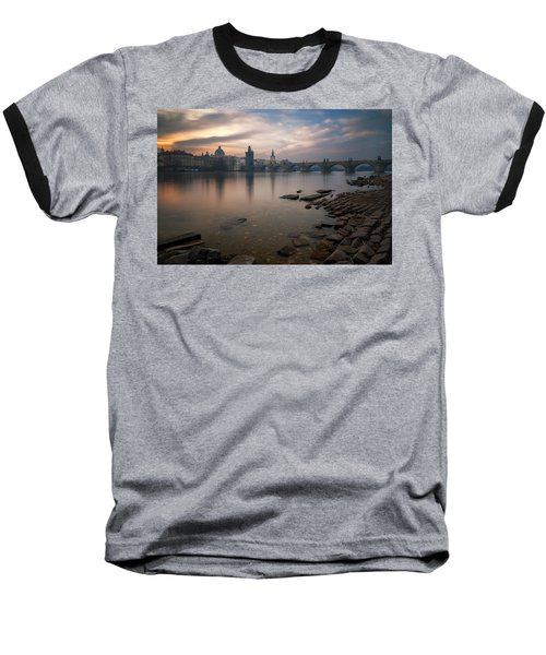 By The River Baseball T-Shirt
