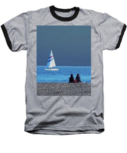 By The Sea Baseball T-Shirt by B Wayne Mullins