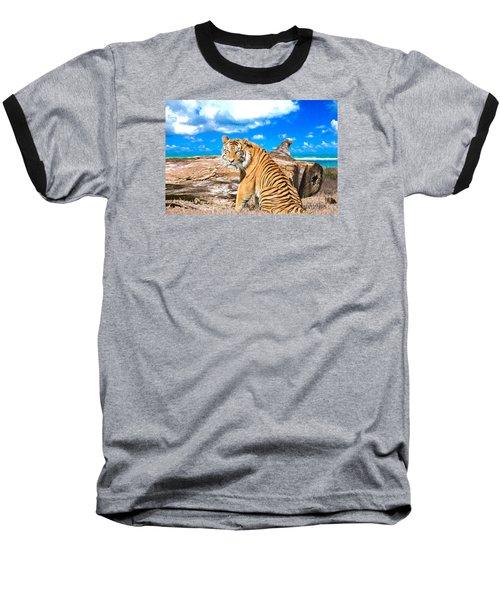 By The Sea Baseball T-Shirt by Judy Kay