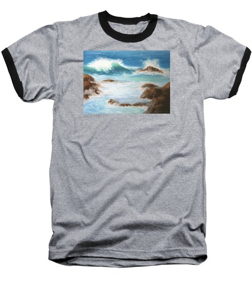 By The Sea Baseball T-Shirt by Marna Edwards Flavell