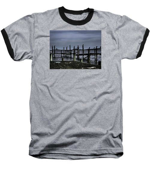By The Sea Baseball T-Shirt by Mikki Cucuzzo