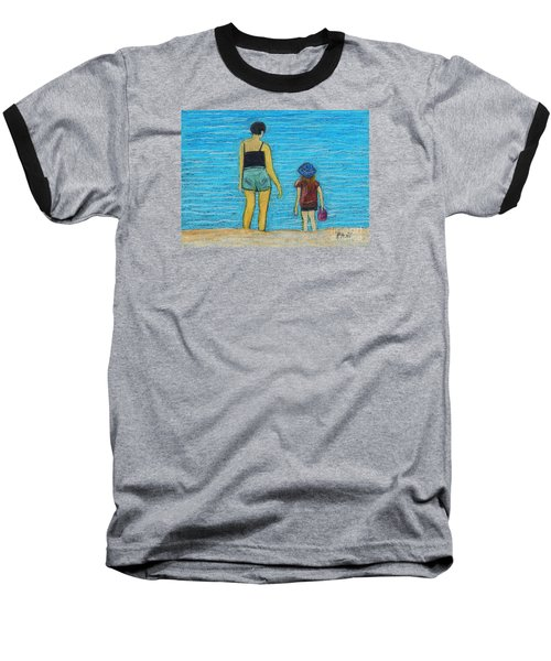 By The Sea Baseball T-Shirt by Reb Frost