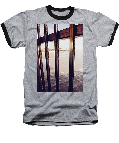 Baseball T-Shirt featuring the photograph By The Sea by Trish Mistric