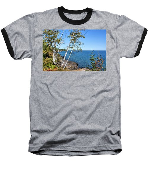 By The Shores Of Gitche Gumee Baseball T-Shirt