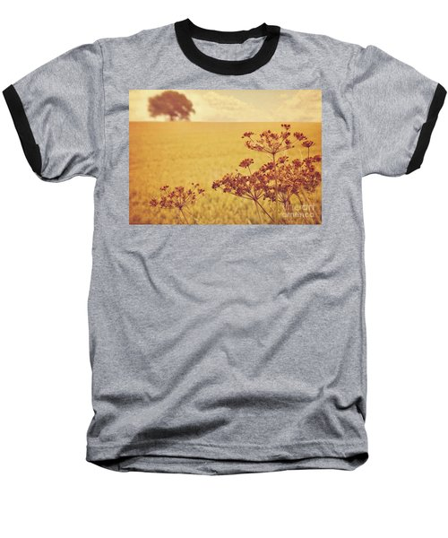 Baseball T-Shirt featuring the photograph By The Side Of The Wheat Field by Lyn Randle