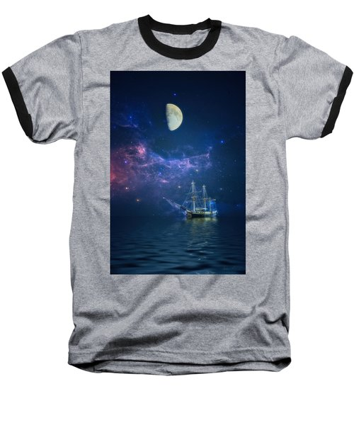 By Way Of The Moon And Stars Baseball T-Shirt