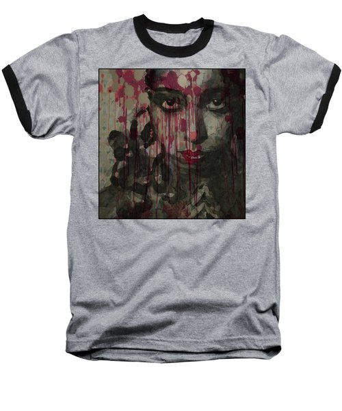 Baseball T-Shirt featuring the painting Bye Bye Blackbird by Paul Lovering